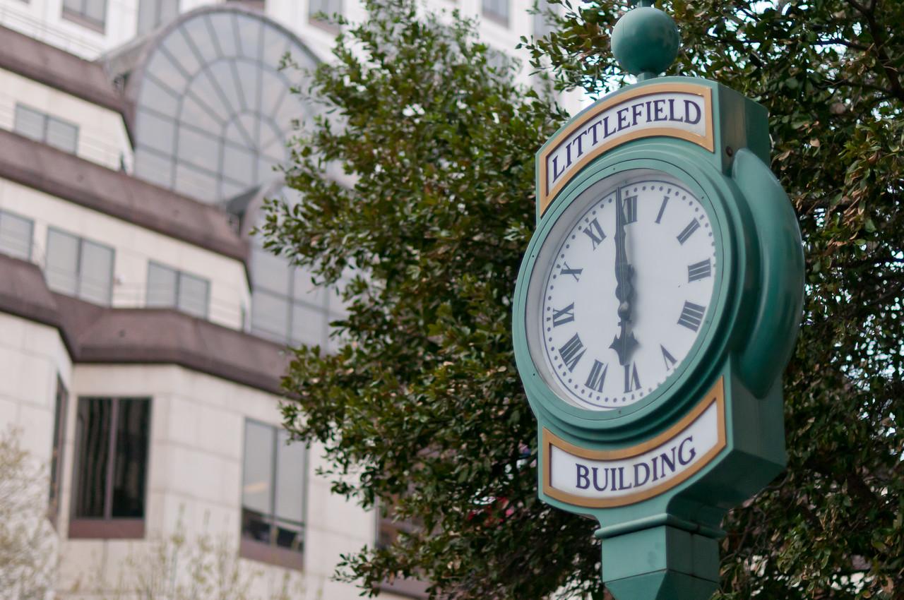 Littlefield Building Clock in Austin, Texas
