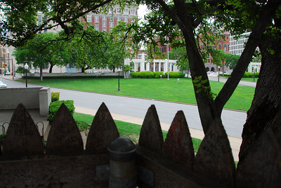 View from behind the grassy knoll