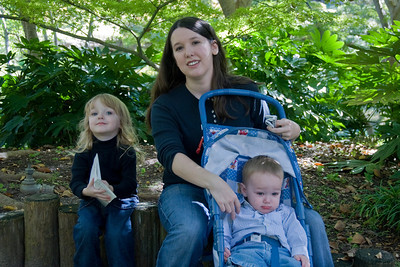 Amy and kids in Fort Worth, Texas