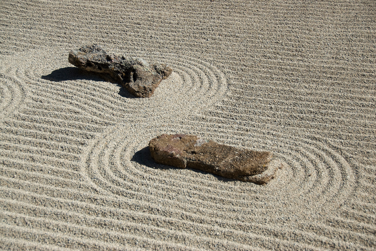 Stones in sands in Fort Worth, Texas