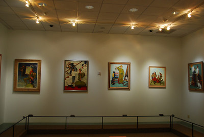 Norman Rockwell painting exhibit in National Scouting Museum in Irving, Texas