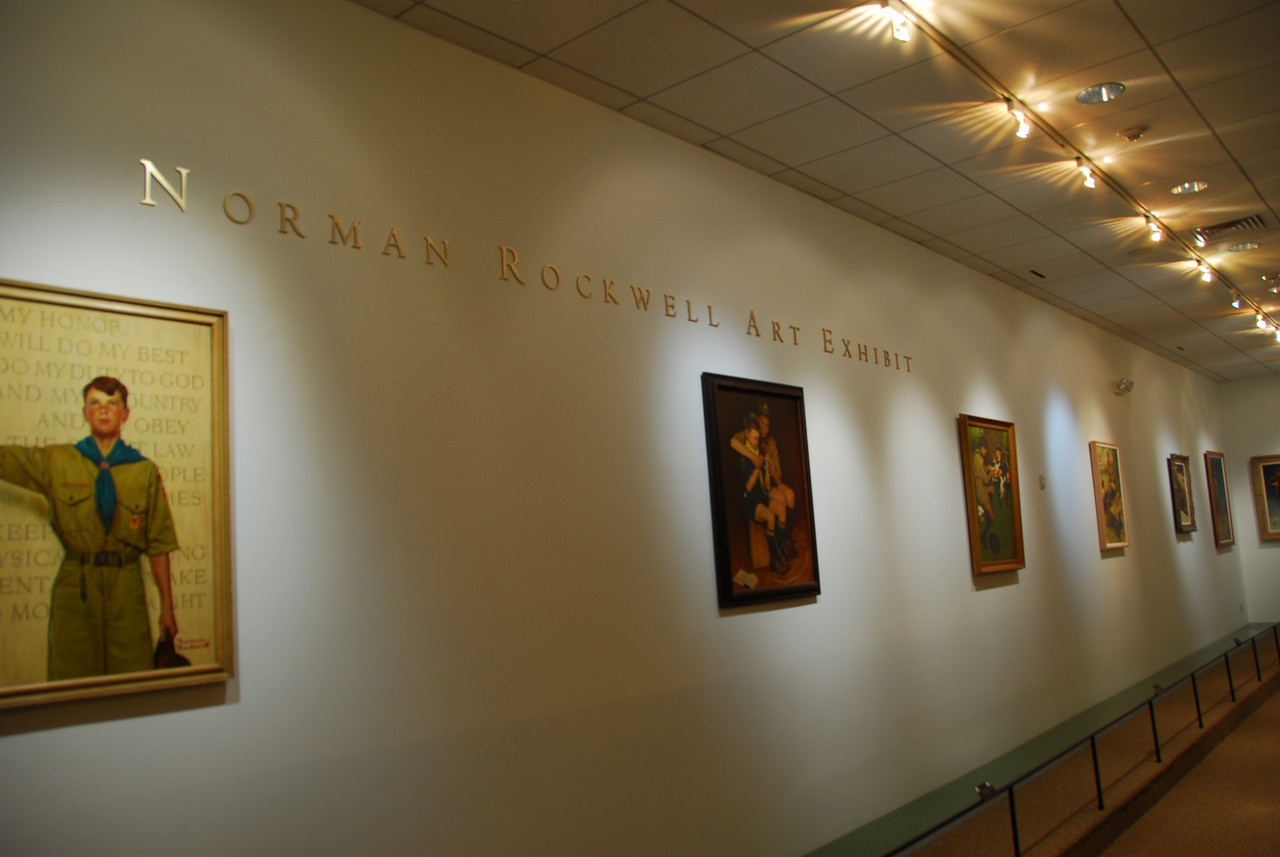Norman Rockwell Art Exhibit in National Scouting Museum in Texas