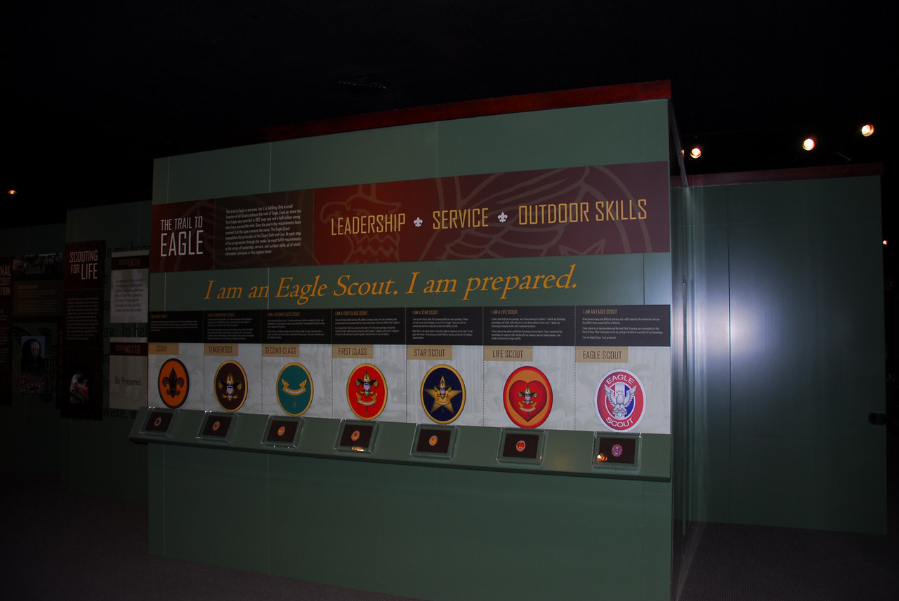 Inside the National Scouting Museum in Irving, Texas