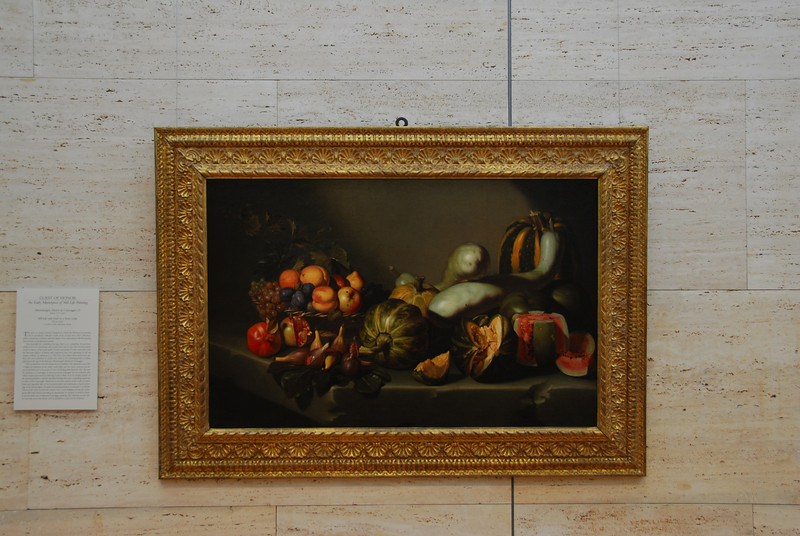 Still Life with Fruit on a Stone Ledge in Kimbell Art Museum, Texas