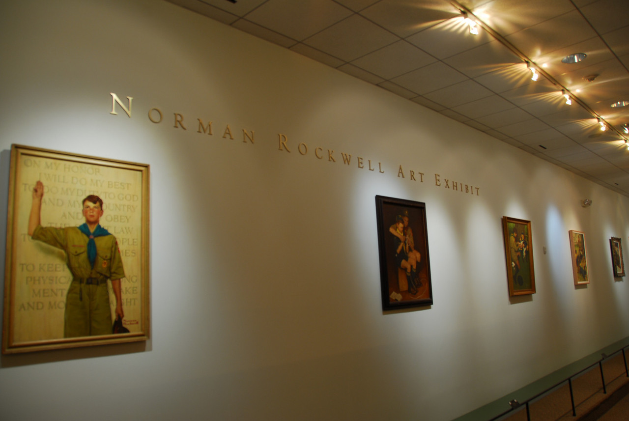 Norman Rockwell Art Exhibit in National Scouting Museum, Texas