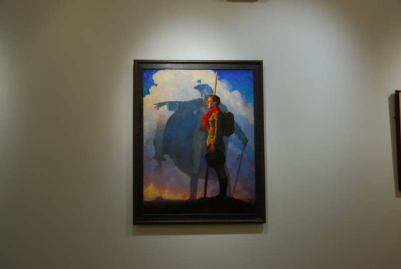 Norman Rockwell painting inside the National Scouting Museum in Irving, Texas