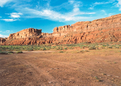 Campsite at the Valley of the Gods
