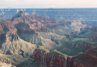 View from Bright Angel Point, Crand Canyon north rim