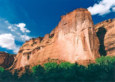 Rock formations at Canyon de Chelly