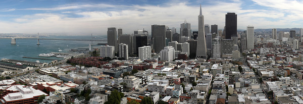 Panorama from the Coit Tower