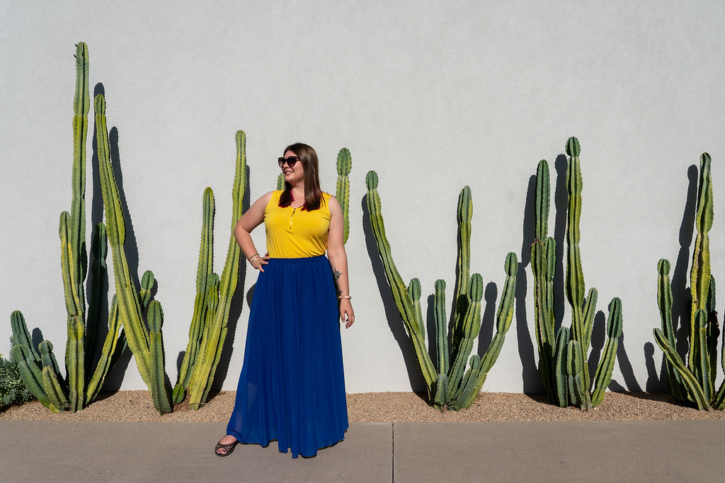 Amanda and cacti at Andaz Resort
