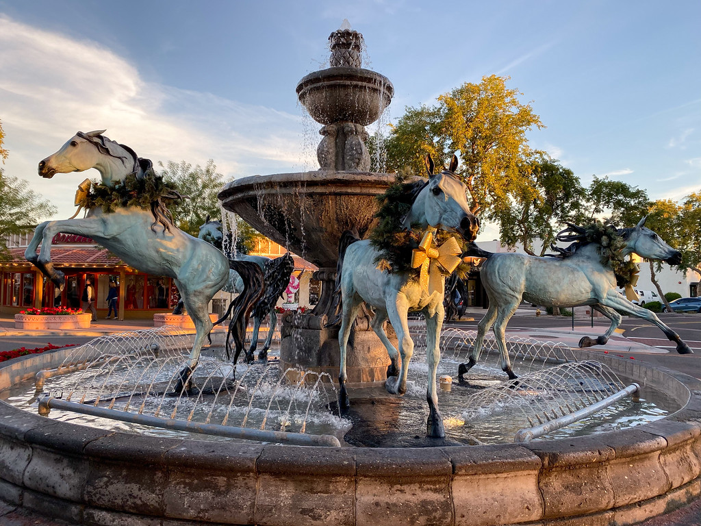 Scottsdale horse fountain