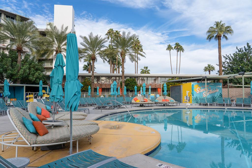 Hotel Valley Ho pool in Scottsdale, Arizona