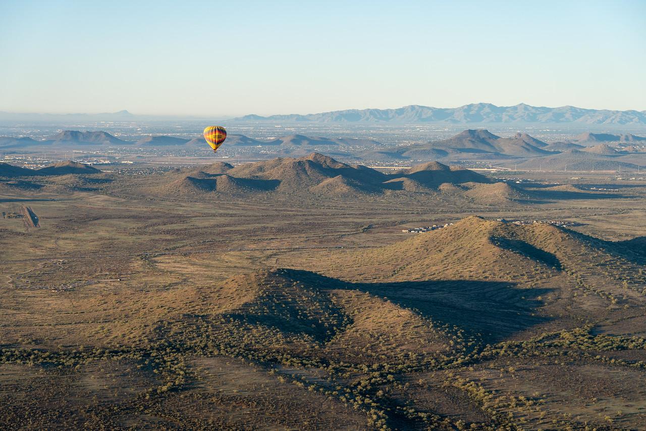 Hot air balloon in Arizona