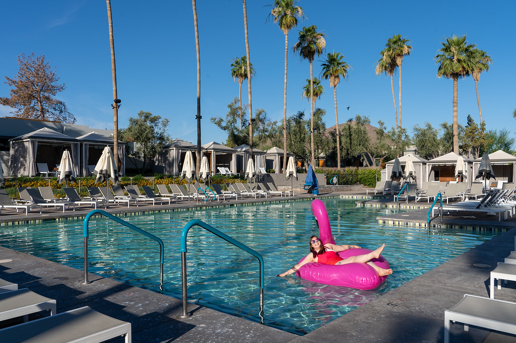 Andaz Scottsdale Resort pool with flamingo float