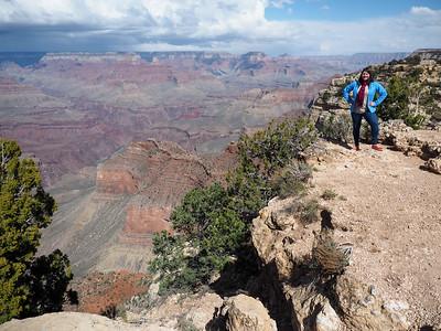 Posing at the Grand Canyon