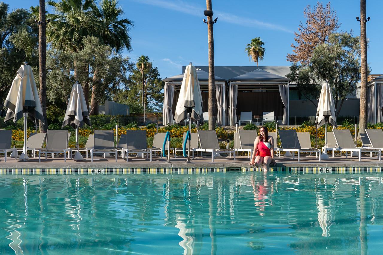 Amanda at the Andaz Scottsdale pool