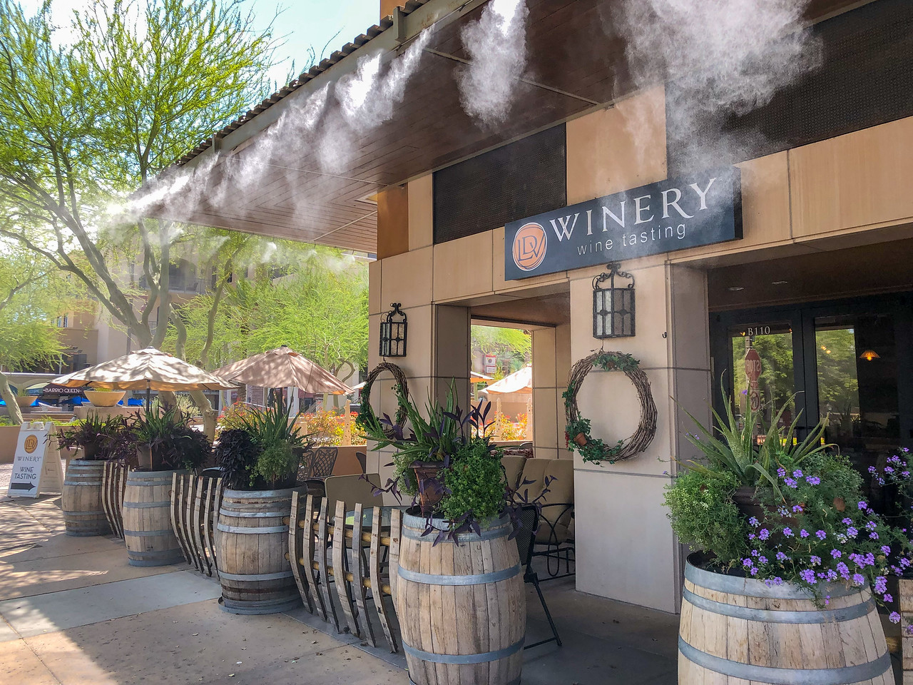 Patio misters in Scottsdale