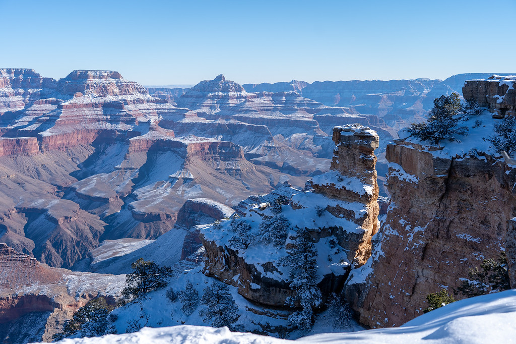 Yaki Point at the Grand Canyon in winter