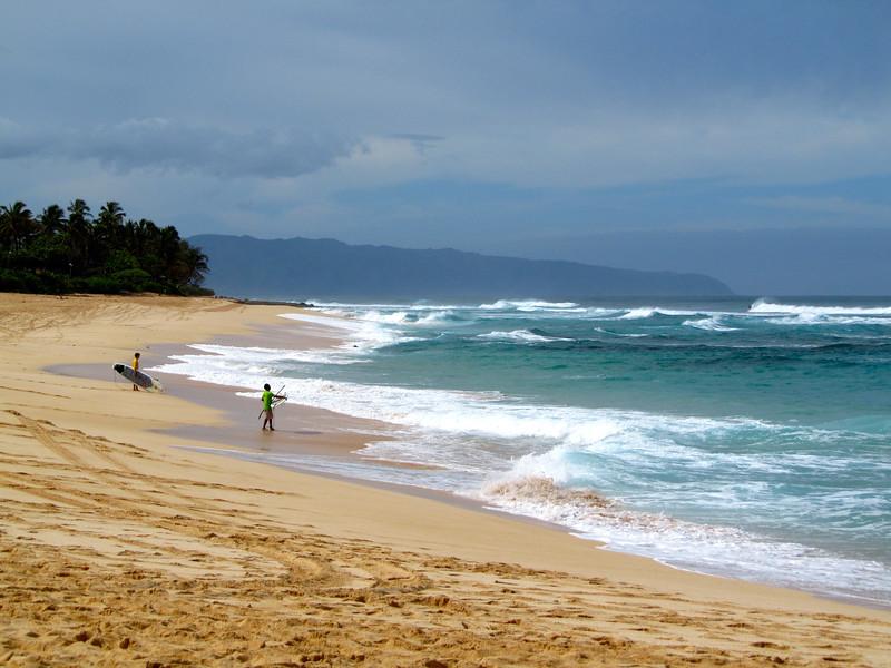 Sunset Beach on Oahu, Hawaii