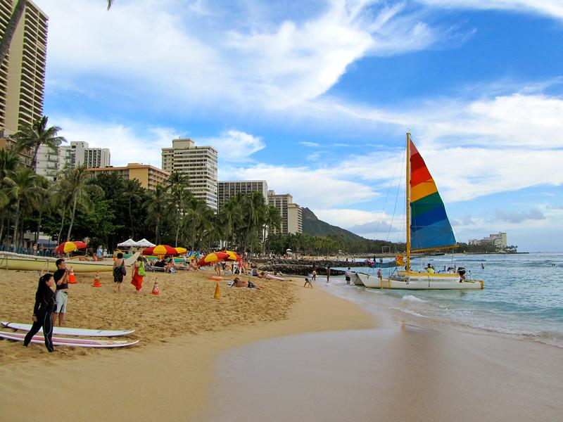 Waikiki Beach on Oahu