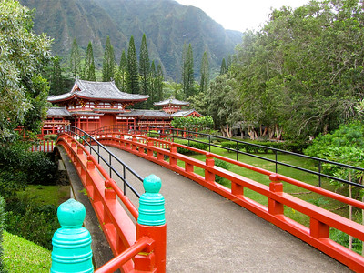 Byodo-In Temple on Oahu, Hawaii