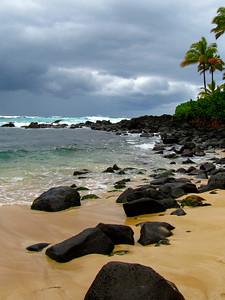 Laniakea Beach on Oahu, Hawaii