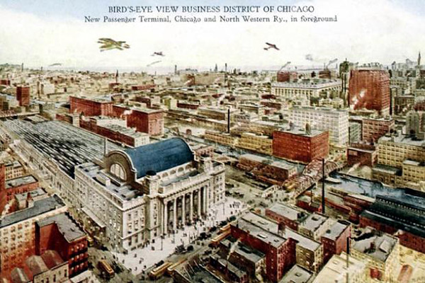 Business District of Chicago