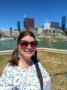 Amanda at Buckingham Fountain