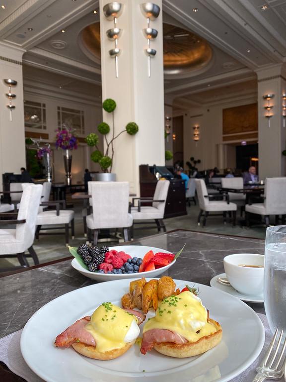 Peninsula Hotel breakfast