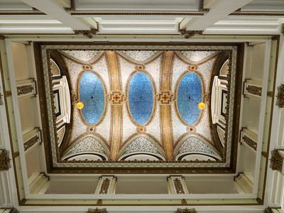 Tiffany glass ceiling in Marshall Fields building