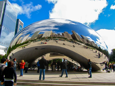 The Cloud Gate (AKA The Bean) in Chicago