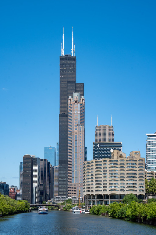 Willis Tower from the Chicago River