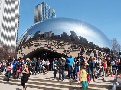 The Cloud Gate in Millennium Park
