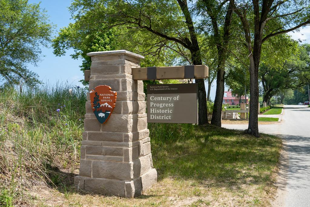Century of Progress Homes NPS sign