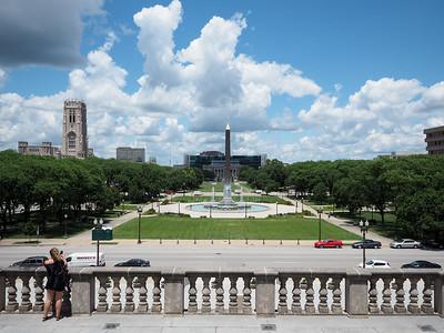 War Memorial Plaza in Indianapolis