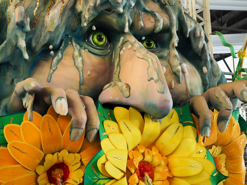 Float at Mardi Gras World in New Orleans