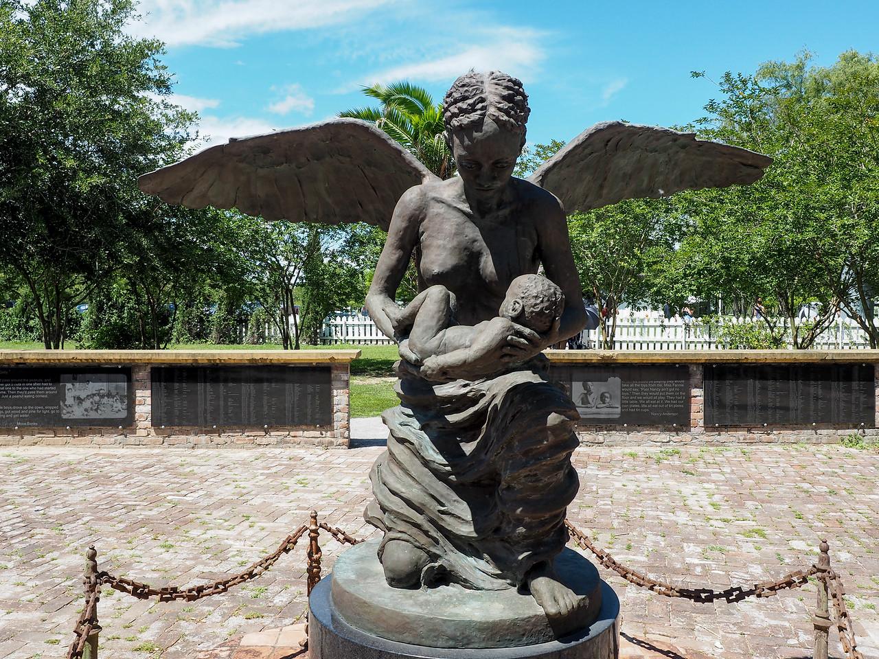 Angel memorial at Whitney Plantation