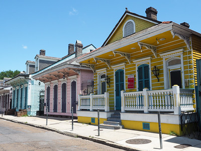 Creole cottages on St. Ann Street in New Orleans