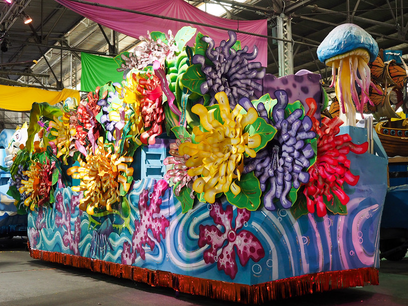 Float at Mardi Gras World
