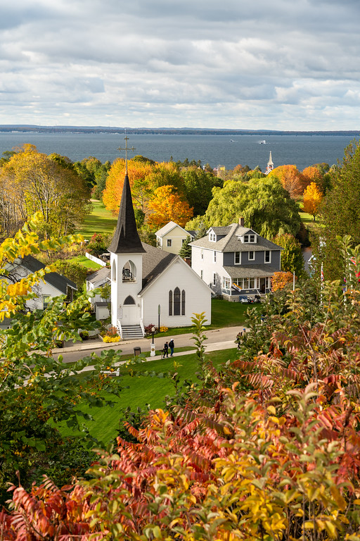 Fall colors from Fort Mackinac