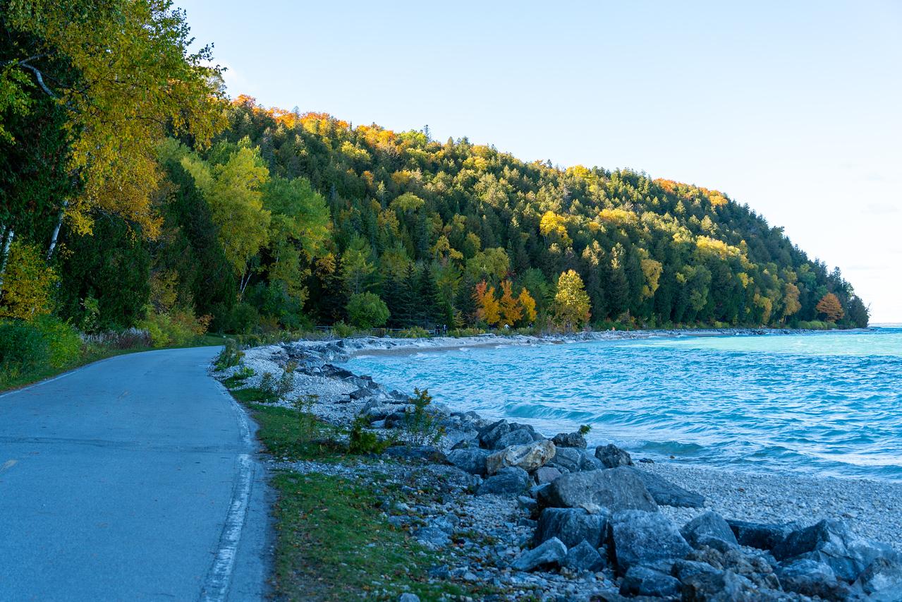 Mackinac Island bike path