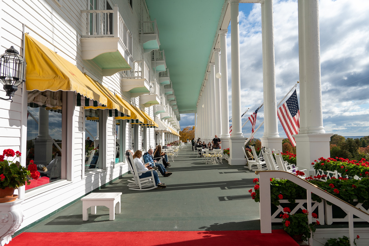 The Grand Hotel front porch