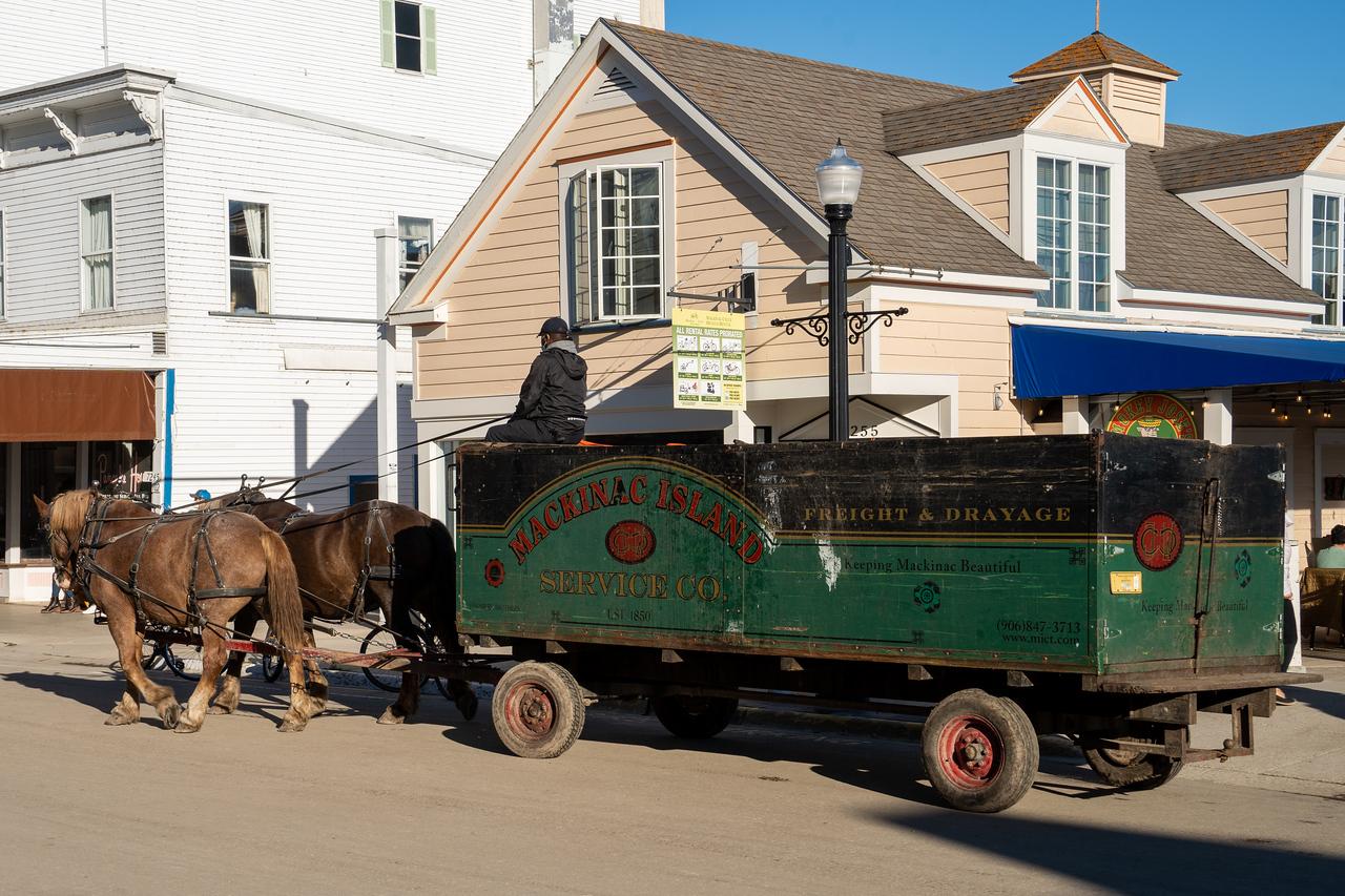 Garbage collection on Mackinac Island