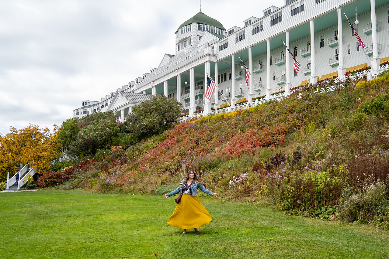 Twirling at the Grand Hotel on Mackinac Island