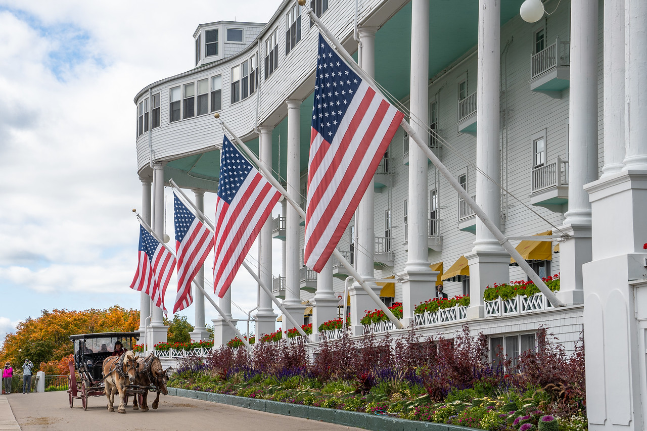 Flags at The Grand Hotel