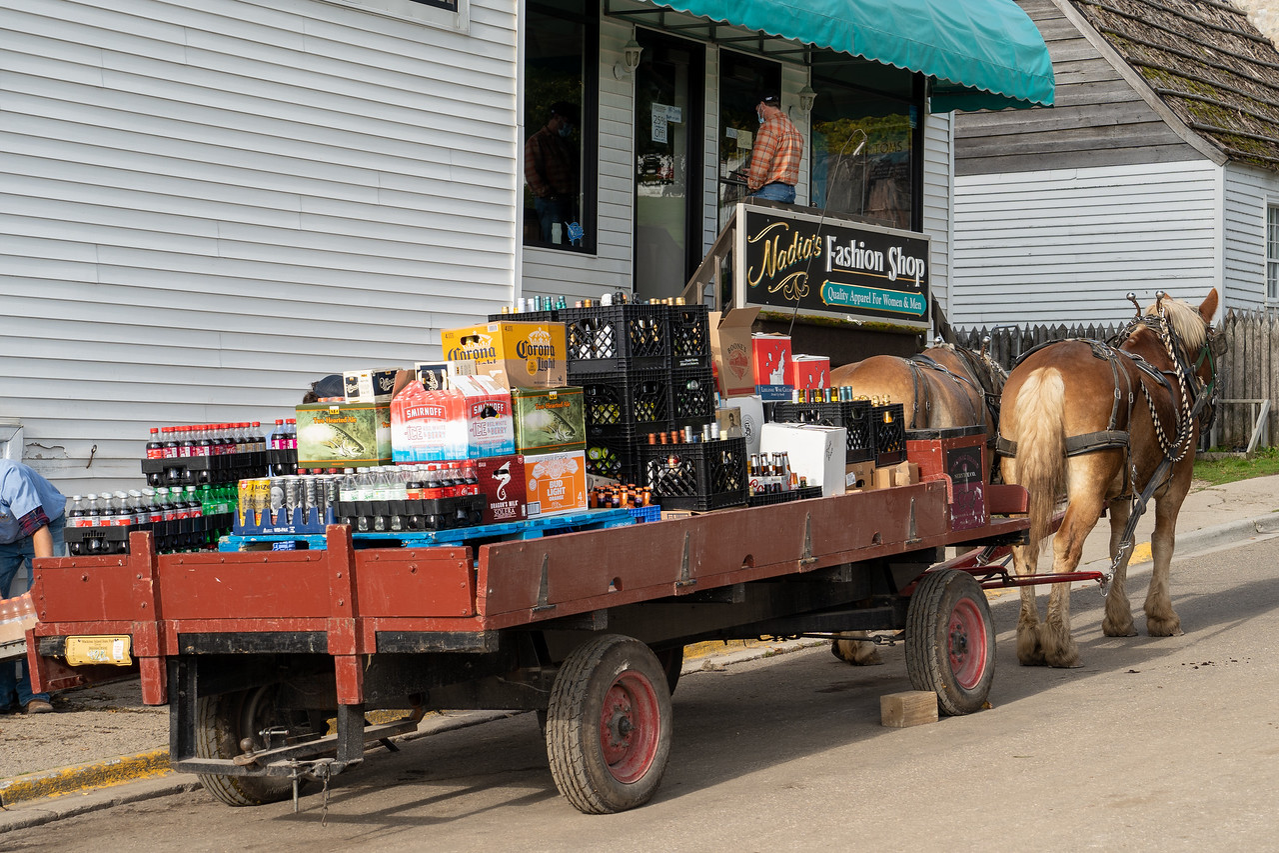 Bar delivery on Mackinac Island