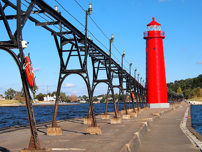 Grand Haven Lighthouse in Michigan