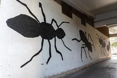 Ant mural in Ann Arbor