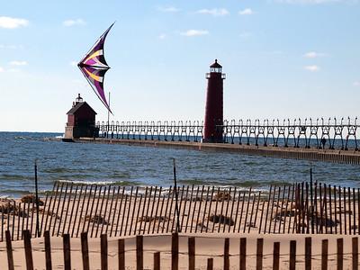 Grand Haven Beach in Michigan